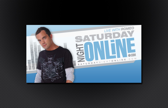 Promo for national syndicated radio show - Saturday Night Online