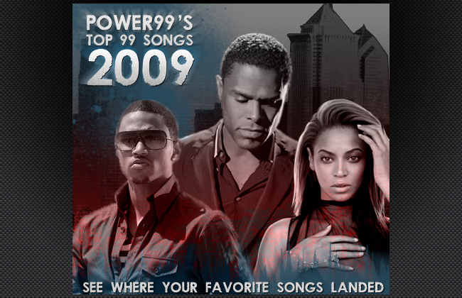 Top Songs of 2009 for Philadelphia's Power 99