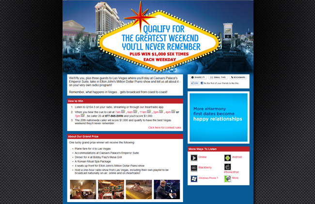 The Greatest Weekend You'll Never Remember Contest Page