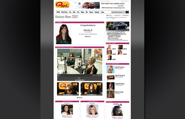 Designed and built various pages, video production - q1043.com